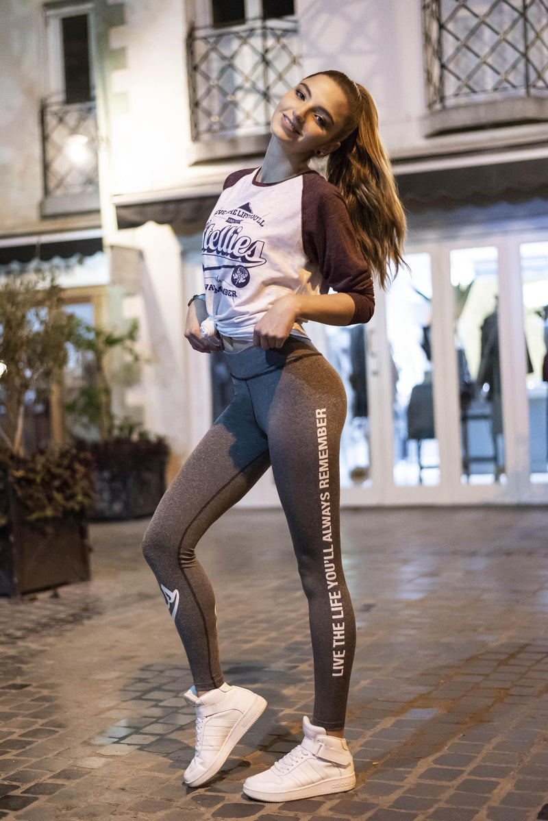 Grey Melange Yoga Pants