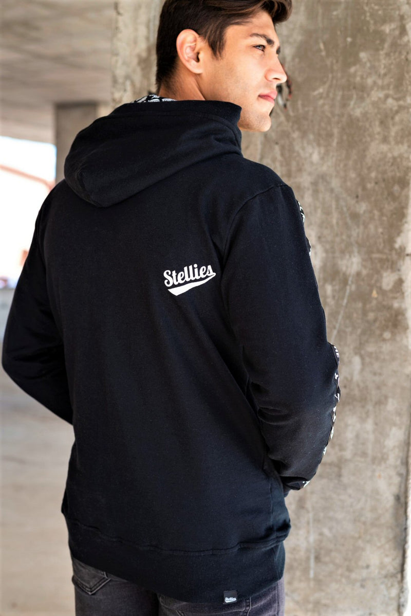 Monochrome Fleece Hoodie - Stellies Authentic Clothing