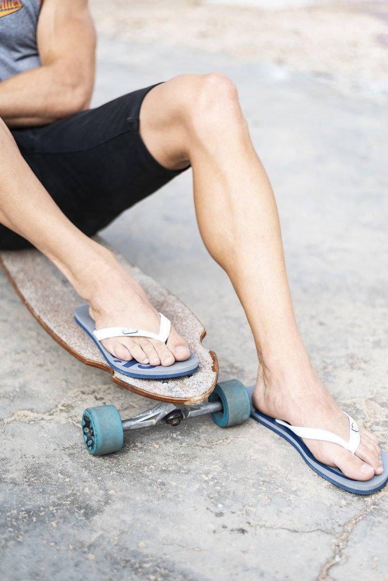 Grey & Navy Stellies Flip-Flops