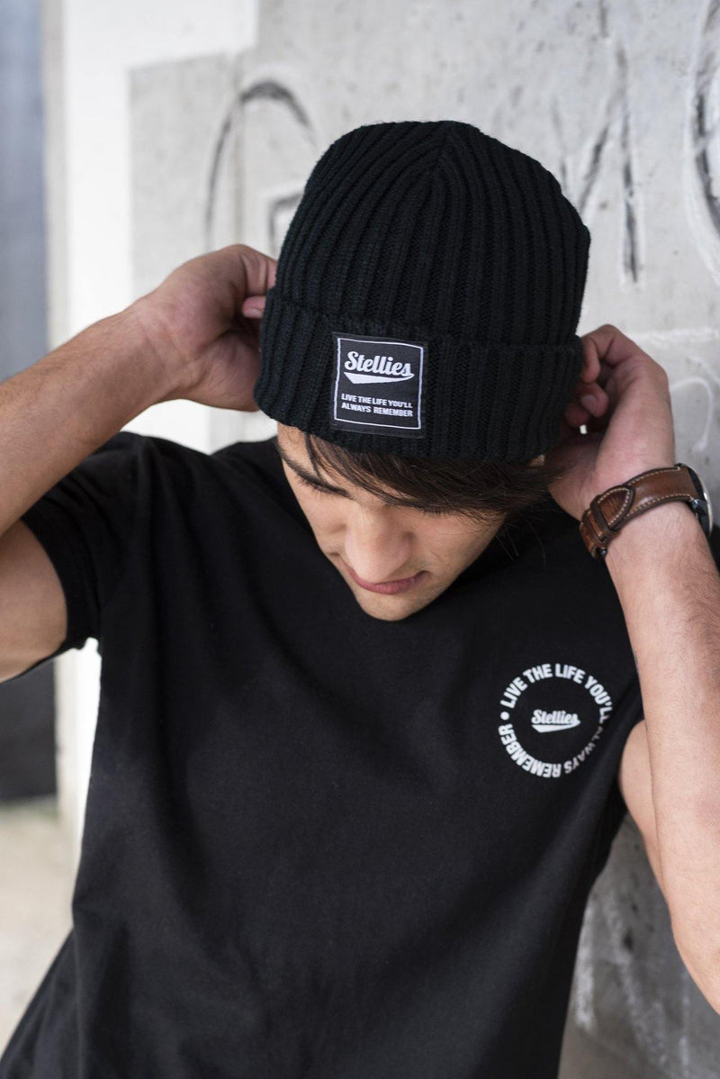 Monochrome Turn Up Beanie