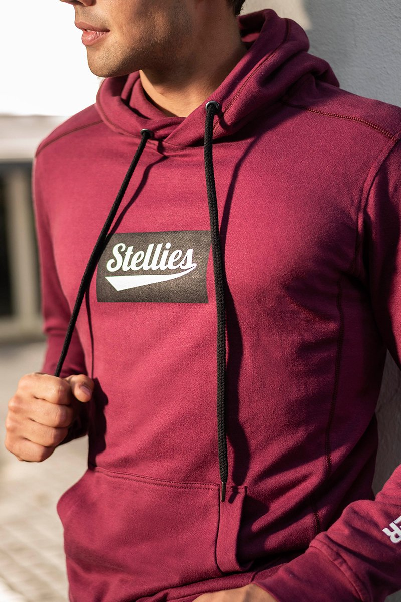 The Solid Crimson Fleece Hoodie