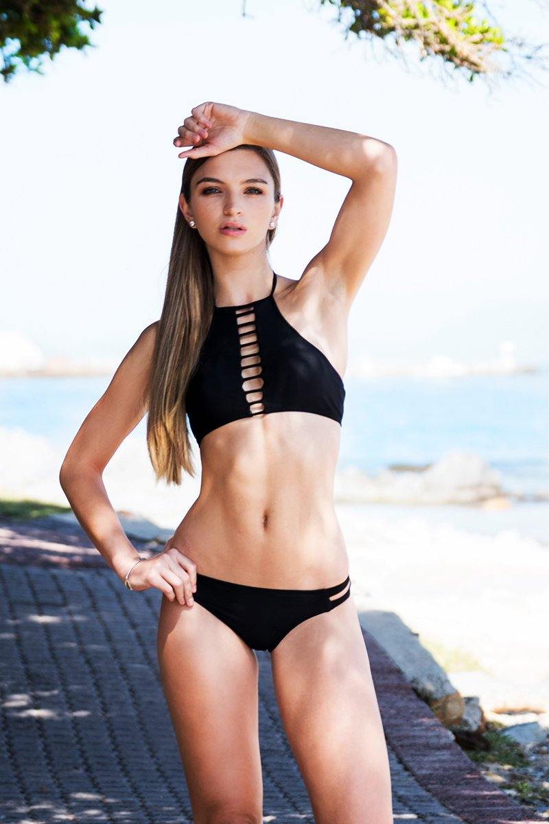 Basic Lace-up Bikini