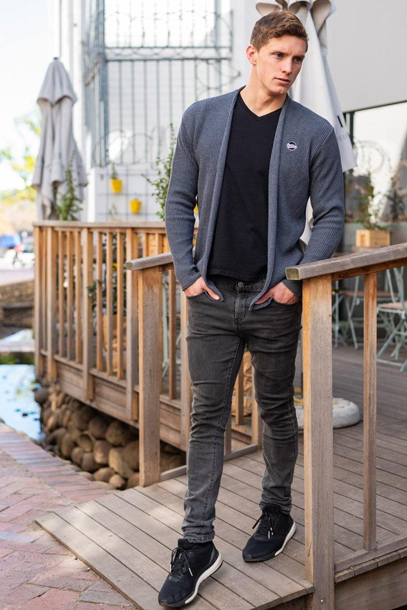 Charcoal Knit Ultralight Cardigan
