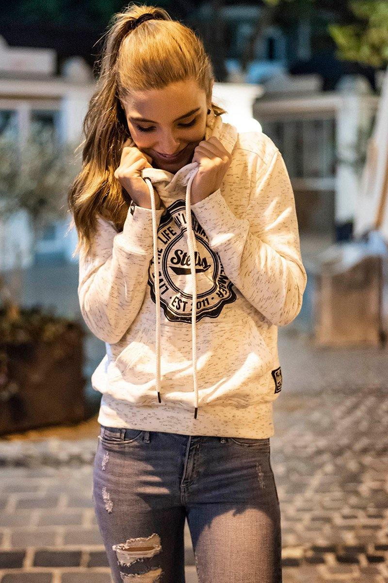 Ladies Snow Melange Fleece Hoodie