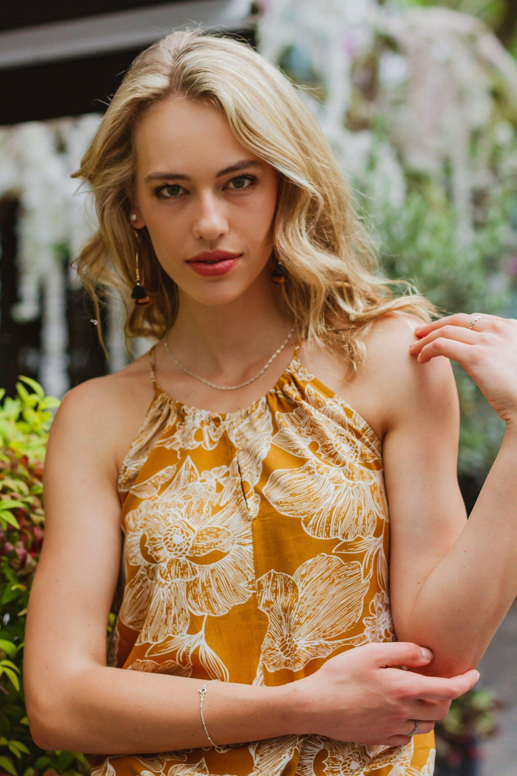 Caprice Cami in Yellow Florals