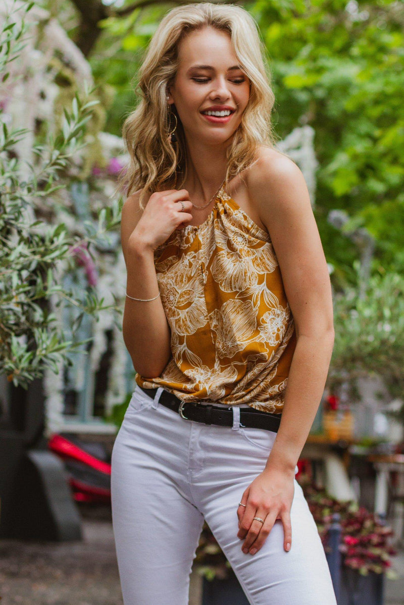 The Caprice Cami in Yellow Florals