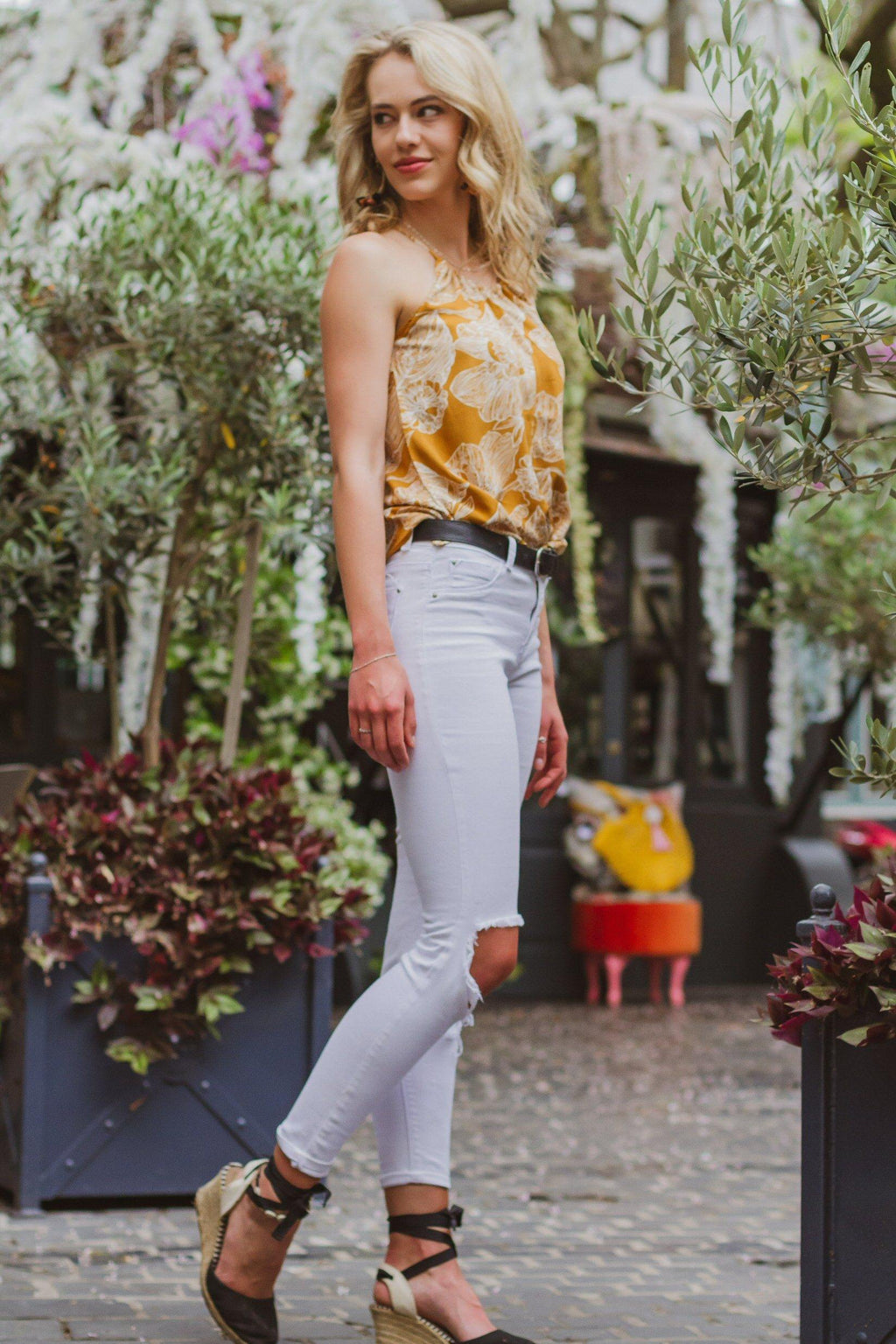 Caprice Cami in Yellow Florals - Stellies Authentic Clothing