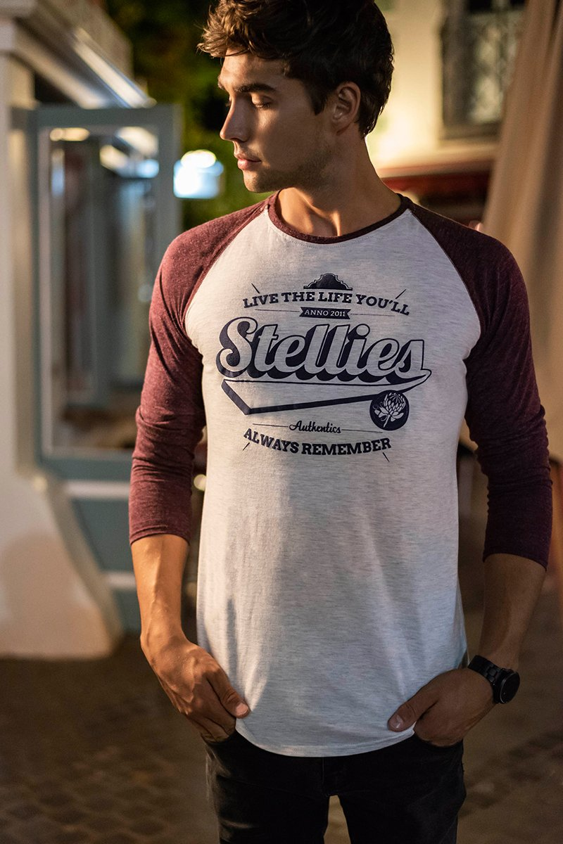 The Raglan Baseball Tee (with Burgundy)
