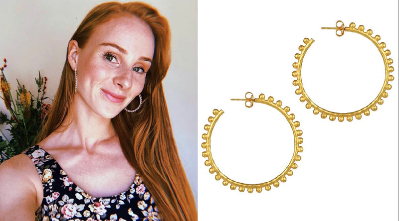 Vera Blue Wearing Angelina Alvarez Hoops