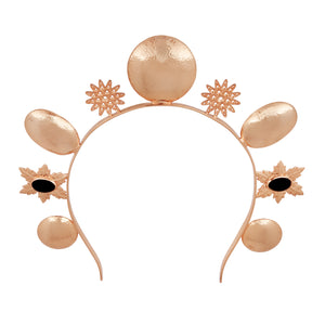 Luna Crown - Rose Gold - Black Onyx - Angelina Alvarez