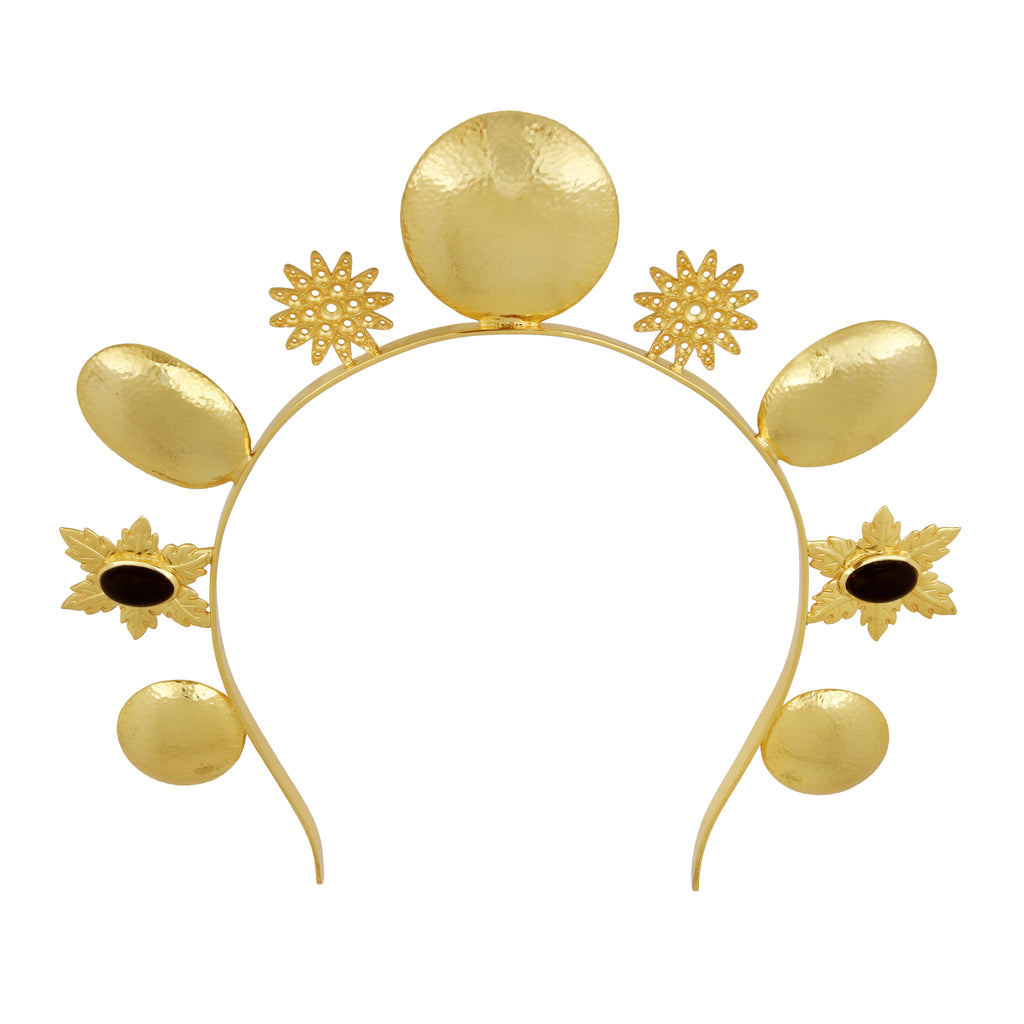 Luna Crown - 24k Gold - Black Onyx - Angelina Alvarez