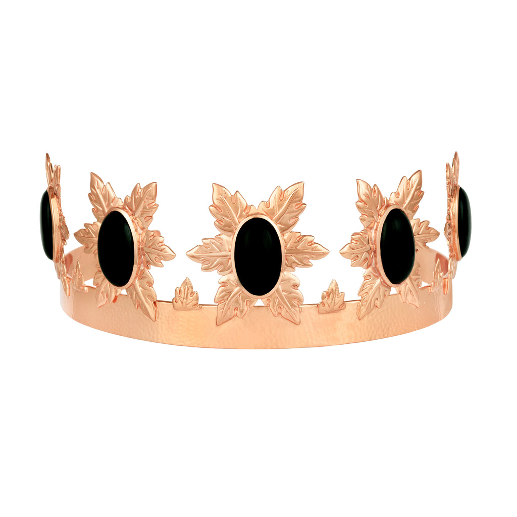 Florentina Crown - Rose Gold - Black Onyx - Angelina Alvarez