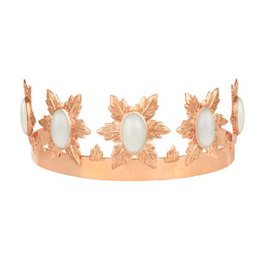 Florentina Crown - Rose Gold - White Onyx - Angelina Alvarez