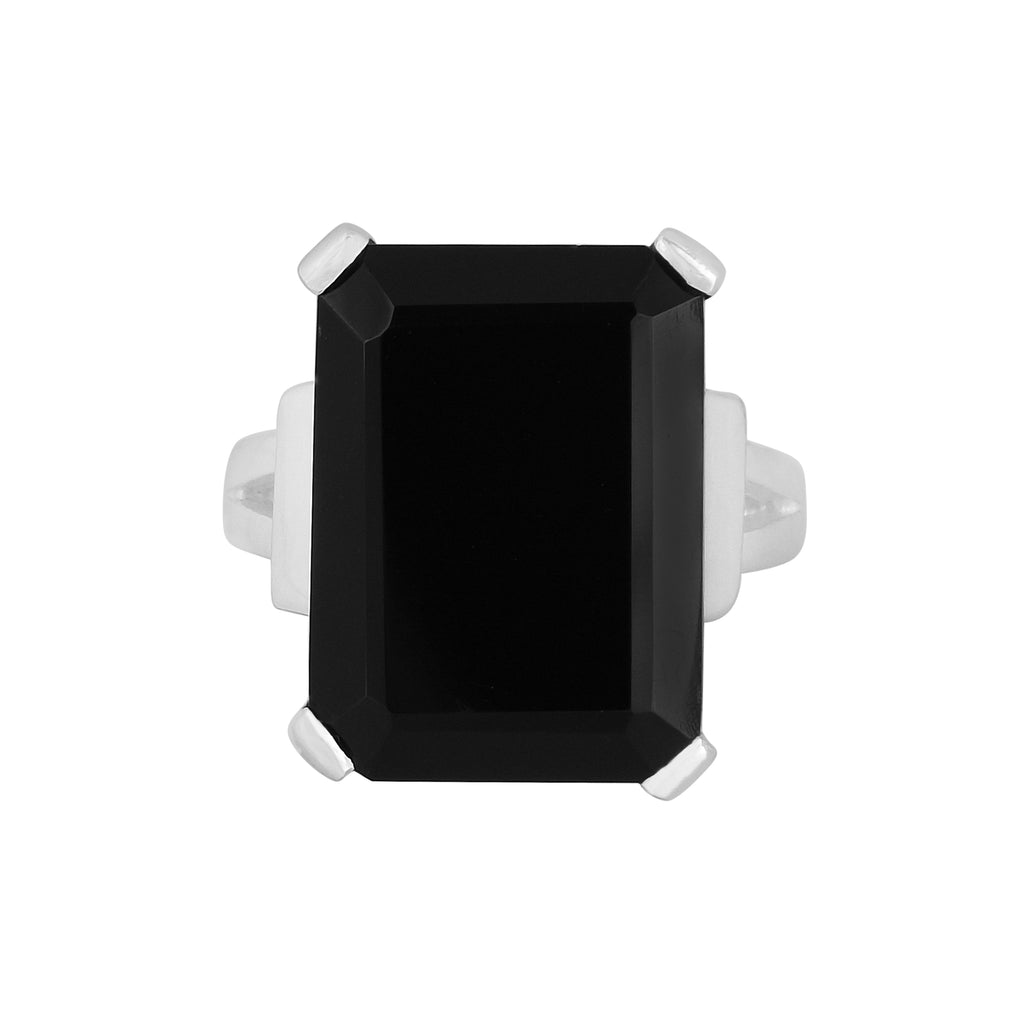 Tiffany Ring - Silver - Black Onyx - Angelina Alvarez