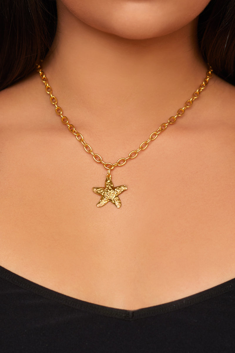 Alana Necklace - 24k Gold - Angelina Alvarez