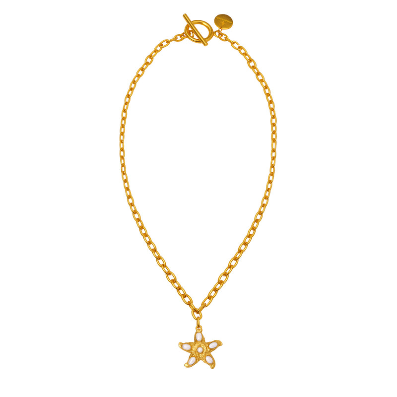 Alana Necklace - 24k Gold - Pearl - Angelina Alvarez