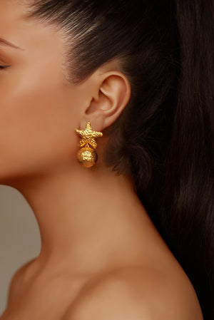 Alessandra Earrings - 24k Gold - Angelina Alvarez