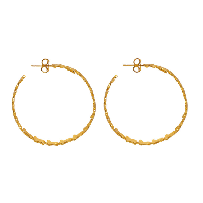 Andrina Hoop Earrings - 24k Gold - Angelina Alvarez