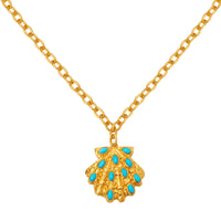 Aquatic Necklace - 24k Gold - Turquoise - Angelina Alvarez