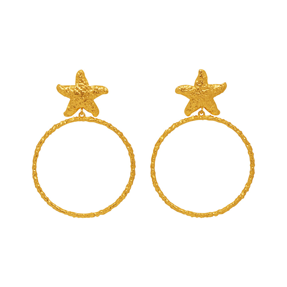 Ariana Earrings - 24k Gold - Angelina Alvarez