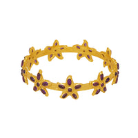 Arista Bangle - 24k Gold - Amethyst - Angelina Alvarez