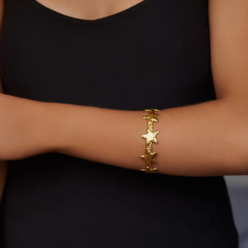 Arista Bangle - 24k Gold - Angelina Alvarez