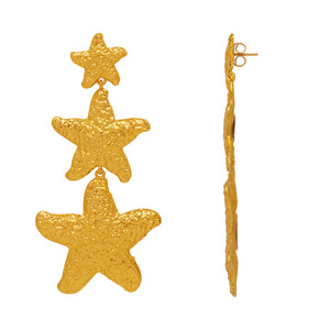 Asherah Earrings - 24k Gold - Angelina Alvarez