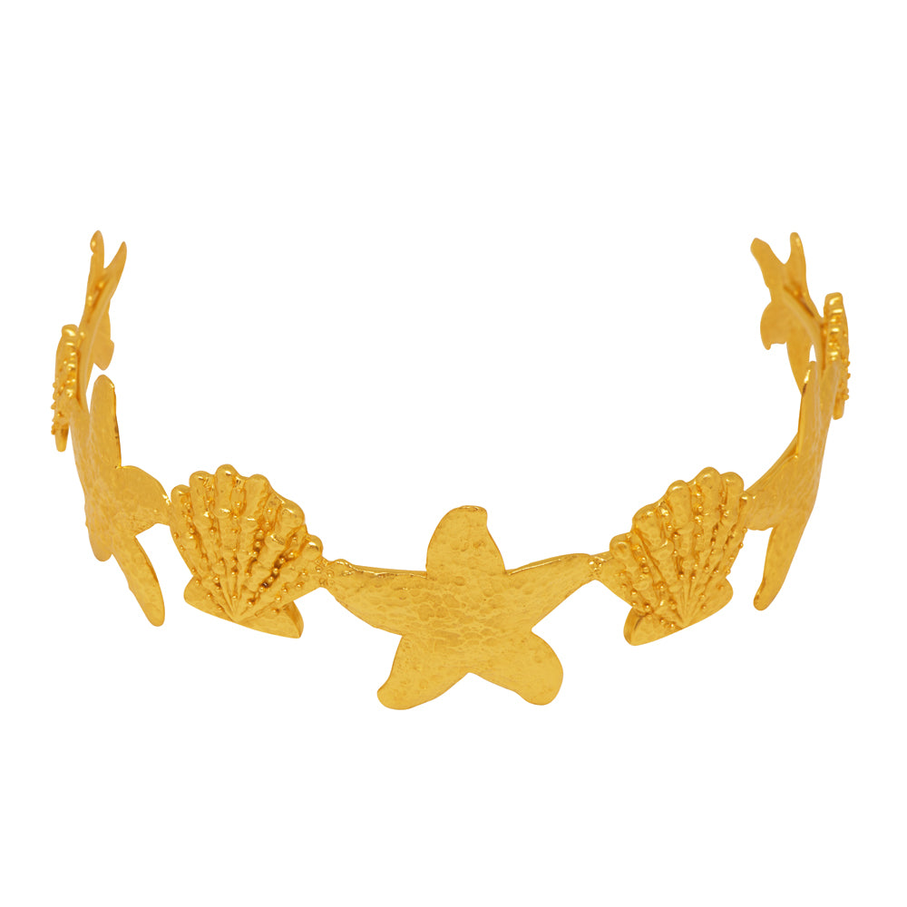 Atlantis Headband Crown - 24k Gold - Angelina Alvarez
