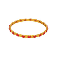 Attina Bangle - 24k Gold - Coral - Angelina Alvarez