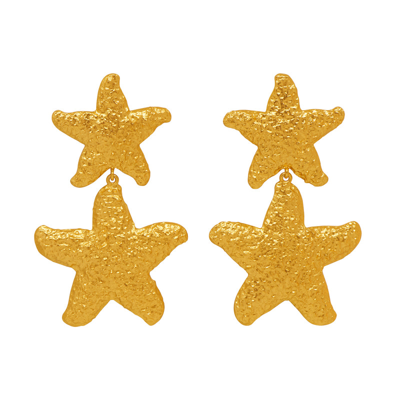 Carlotta Earrings - 24k Gold - Angelina Alvarez