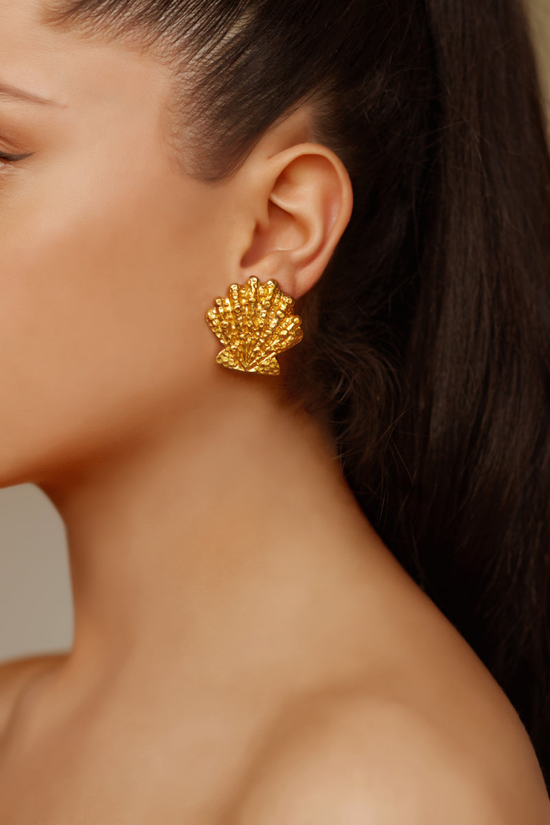 Marina Earrings - 24k Gold - Angelina Alvarez