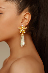 Mermaid Earrings - 24k Gold - Pearl - Angelina Alvarez