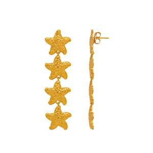 Nerida Earrings - 24k Gold - Angelina Alvarez