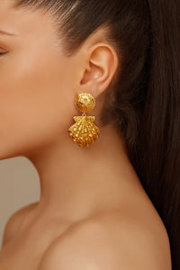 Riviera Earrings - 24k Gold - Angelina Alvarez