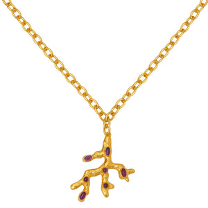 Triton Necklace - 24k Gold - Amethyst - Angelina Alvarez