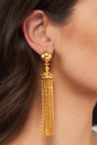 Battina Chain Earrings - 24k Gold