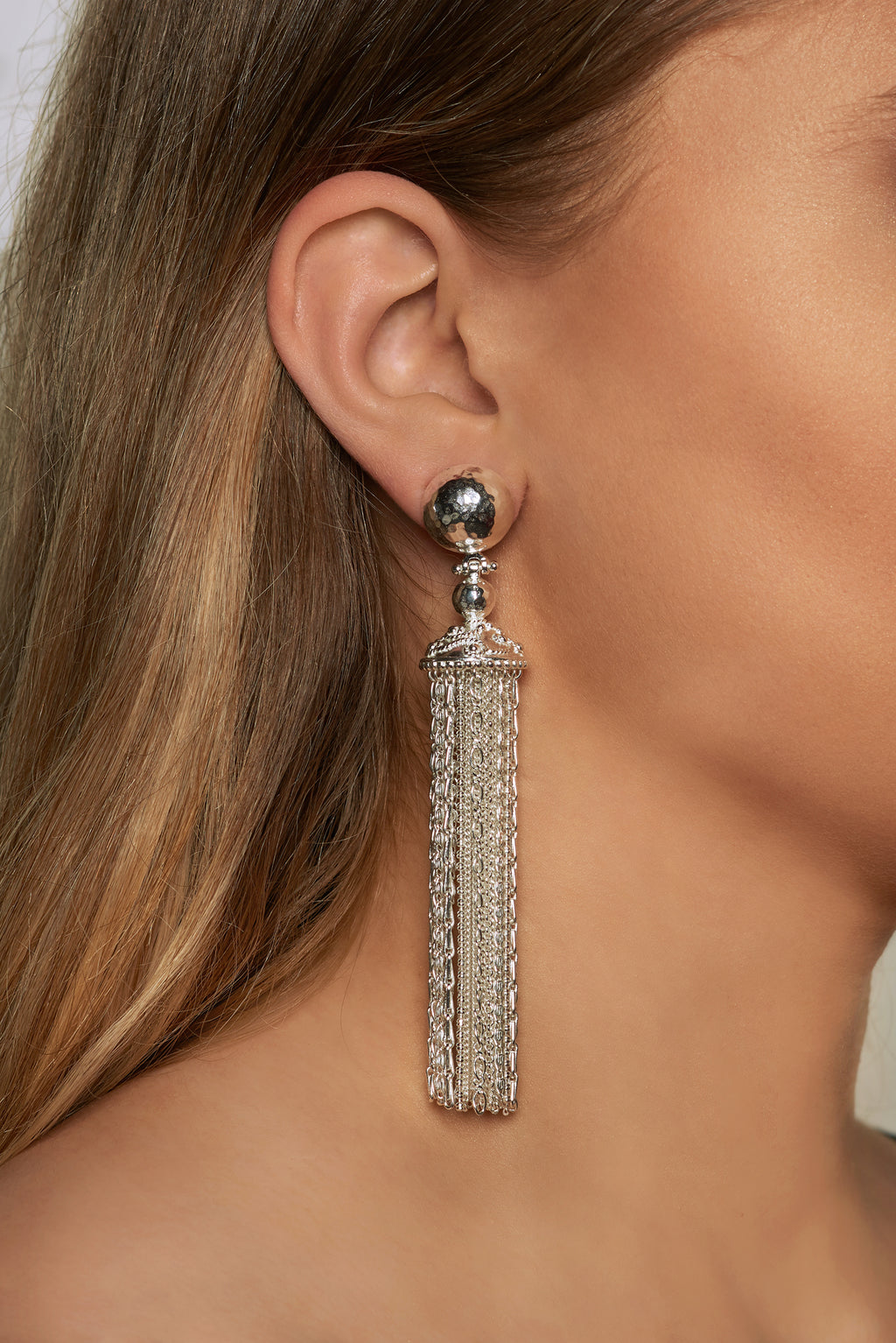 Battina Earrings - Silver - Angelina Alvarez