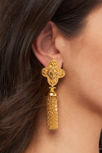 Adriana Chain Earrings - 24k Gold