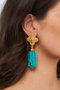 Adriana Earrings - 24k Gold - Angelina Alvarez