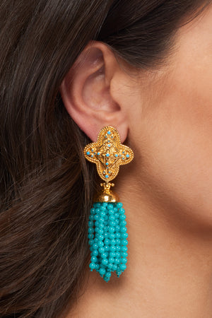 Adriana Earrings - 24k Gold - Turquoise