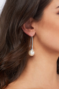 Celia Earrings - Silver - Pearl - Angelina Alvarez