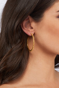 Christina Hoop Earrings  - 24k Gold - Angelina Alvarez