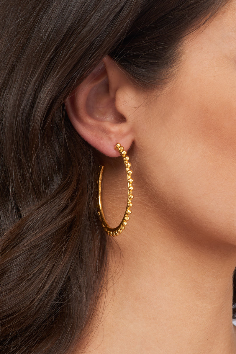Christina Hoop Earrings  - 24k Gold