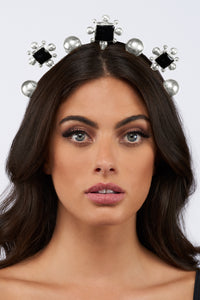 Catarina Crown - Silver - Black Onyx - Angelina Alvarez