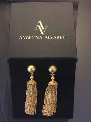 Battina Earrings - 24k Gold - Angelina Alvarez
