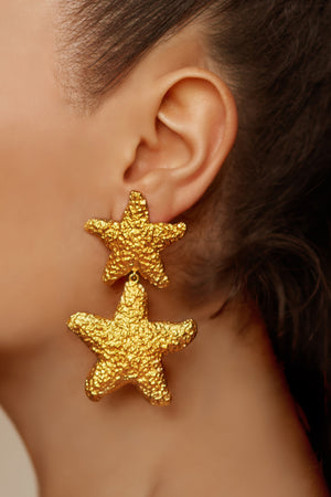 Carlotta Earrings - 24k Gold