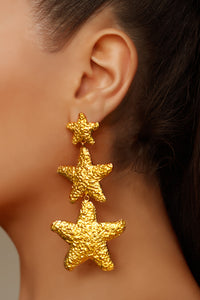 Asherah Earrings - 24k Gold