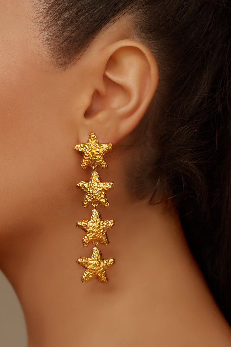 Nerida Earrings - 24k Gold