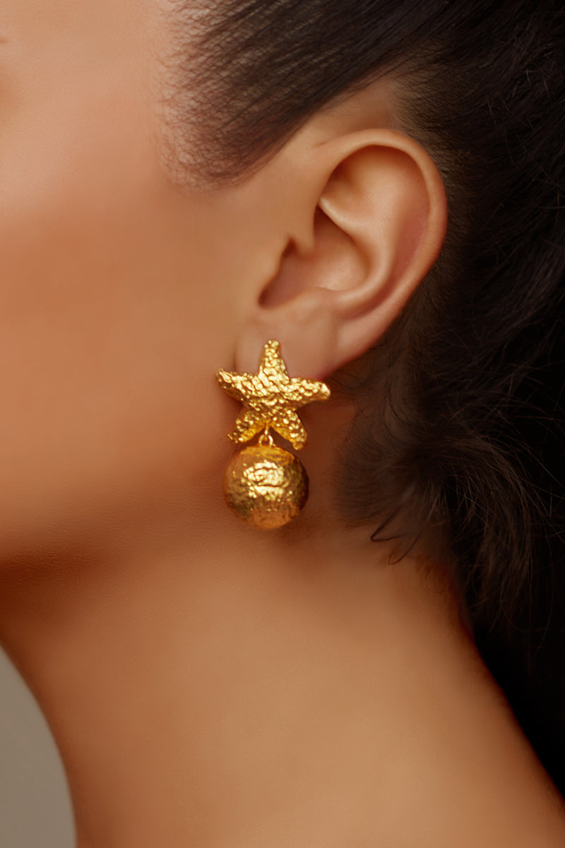 Alessandra Earrings - 24k Gold