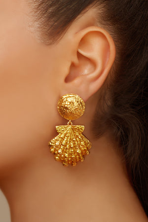 Riviera Earrings - 24k Gold